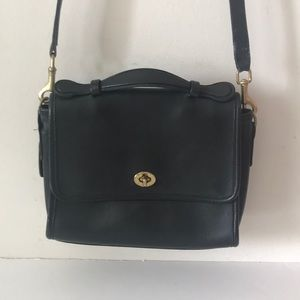 Vintage Black Coach Bag No 9870.